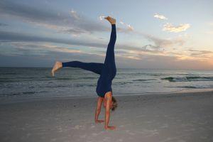 betsey handstand beach